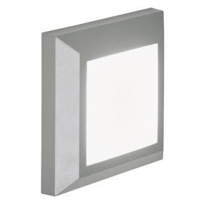 Viokef Spot Απλίκα Εξωτερικού Χώρου Square Leros Plus LED 3.5W IP44 Γκρί Πλαστικό