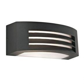 Viokef Spot Απλίκα Εξωτερικού Χώρου Square Limnos CFL/LED Max 20W E27 IP44 Ανθρακί PC Αλουμίνιο