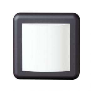 Viokef Spot Απλίκα Εξωτερικού Χώρου Square Minos LED 4W IP54 Ανθρακί Πλαστικό