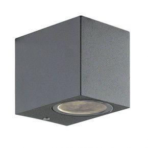 Viokef Spot Απλίκα Εξωτερικού Χώρου Square Tilos Max 35W GU10 IP54 Ανθρακί Αλουμίνιο