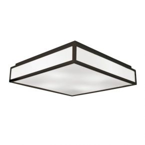 Viokef Τετράφωτη Πλαφονιέρα Οροφής Η΄ Τοίχου Wenge Figaro CFL/LED Max 18W E27 PC Λευκό Καφέ Μεταλλικό