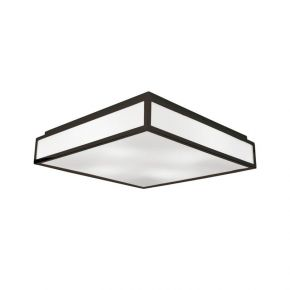 Viokef Τρίφωτη Πλαφονιέρα Οροφής Η Τοίχου Wenge Figaro CFL/LED Max 18W E27 PC Λευκό Καφέ Μεταλλικό