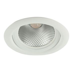 Viokef Χωνευτό Φωτιστικό Spot Οροφής Clio Max 50W R111 GU10 LED/R111 G53 230V/12V Λευκό Αλουμίνιο