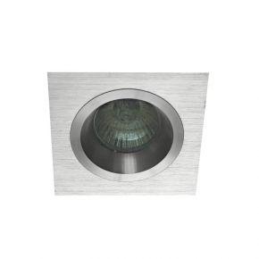 Viokef Χωνευτό Φωτιστικό Spot Οροφής Richard 92x92 Max 50W GU10 Αλουμίνιο