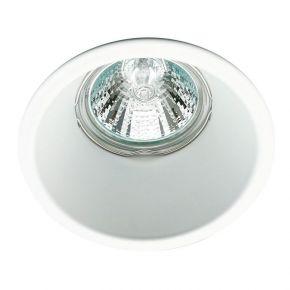 Viokef Χωνευτό Φωτιστικό Spot Οροφής Round Rob Max 50W GU10 Λευκό Αλουμίνιο