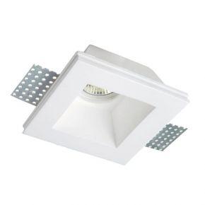 Viokef Χωνευτό Φωτιστικό Spot Οροφής Square Bradley Max 35W 230V/12V GU10/GU5,3 Γύψινο