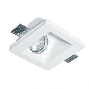 Viokef Χωνευτό Φωτιστικό Spot Οροφής Square Dalton Max 35W 230V/12V GU10/GU5,3 Γύψινο