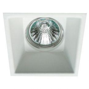 Viokef Χωνευτό Φωτιστικό Spot Οροφής Square Rob Max 50W GU10 Λευκό Αλουμίνιο