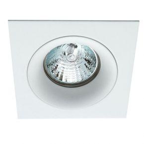 Viokef Χωνευτό Φωτιστικό Spot Οροφής Square Tim Max 50W GU10 Λευκό Αλουμίνιο