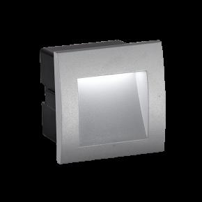 Viokef Χωνευτή Spot Απλίκα Εξωτερικού Χώρου Square Riva LED 3W IP65 Γκρί Αλουμίνιο