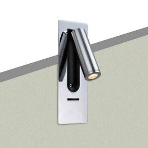 Viokef Χωνευτό Φωτιστικό Spot Απλίκα Τοίχου Judy LED 3W Νίκελ Ματ Μεταλλικό