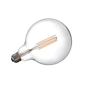 VK Λάμπα LED Filament 7W E27 G125 Globo Clear Dimmable