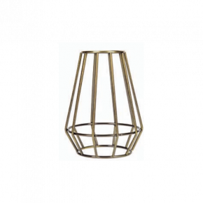 VK Φωτιστικό Κλουβί E27 Κωνικό Antique Brass