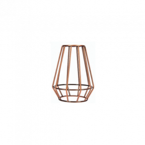 VK Φωτιστικό Κλουβί E27 Κωνικό Antique Copper