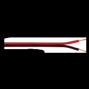 VK Καλώδιο PVC 2x1 Μεγαφωνικό Πλακέ Κόκκινο Μαύρο