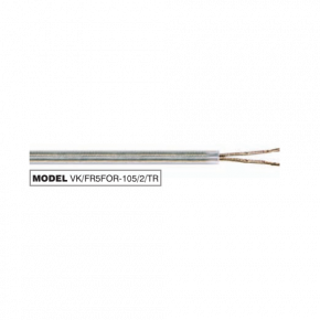 VK Καλώδιο Teflon 3x0.75 PVC Round Διάφανο