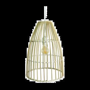 VK Κρεμαστό Φωτιστικό 60W VK03126PE E27 Ø30cm Bamboo