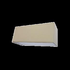 VK Απλίκα 42W Μέταλλο και Ύφασμα E27 Παραλληλόγραμμο