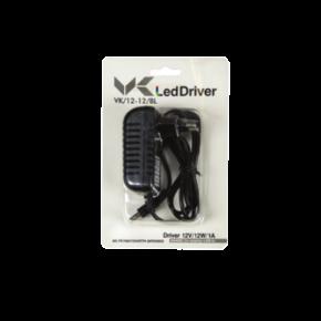 VK LED Driver 12W Τροφοδοτικό Πρίζας 12V Blister Pack IP20