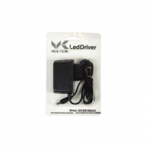 VK LED Driver 6W Τροφοδοτικό Πρίζας 12V Blister Pack IP20