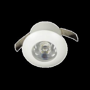 VK LED Spot 1W Στρογγυλό Χωνευτό Mini με Driver 350mA IP20