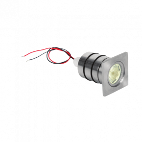 VK LED Spot Χωνευτό Εδάφους 35W Stainless ø35 MR11 Τετράγωνο Στεφάνι IP65