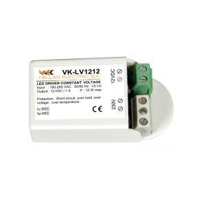 VK LED Τροφοδοτικό 12W 24V