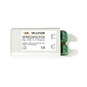 VK LED Τροφοδοτικό 36W 12V IP20