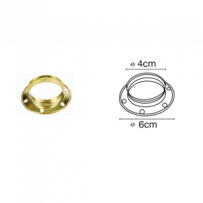 VK Μεταλλικό Δαχτυλίδι E27 με Βόλτες Χρυσό