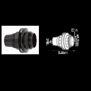 VK Ντουί Βακελίτη E14 με 2 Δαχτυλίδια Μαύρο