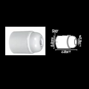 VK Ντουί Βακελίτη E27 Λείο Λεύκο