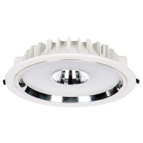 VK Στρογγυλό Χωνευτό LED Φωτιστικό 30W Plastic