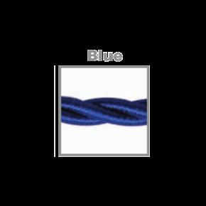 VK Υφασμάτινο Καλώδιο Στριφτό 2x0.75  ø0.6cm Blue