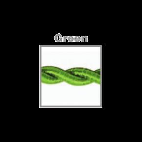 VK Υφασμάτινο Καλώδιο Στριφτό 2x0.75  ø0.6cm Green