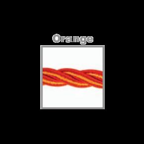 VK Υφασμάτινο Καλώδιο Στριφτό 2x0.75  ø0.6cm Orange
