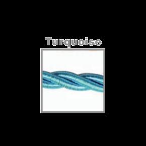 VK Υφασμάτινο Καλώδιο Στριφτό 2x0.75  ø0.6cm Turquoise