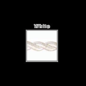 VK Υφασμάτινο Καλώδιο Στριφτό 2x0.75  ø0.6cm White