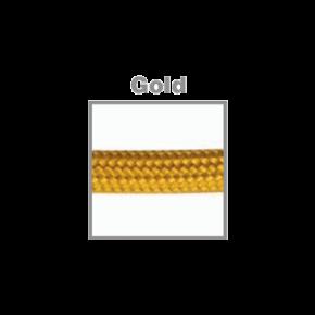VK Υφασμάτινο Καλώδιο Στρογγυλό 3x0.75 ø0.68cm Gold