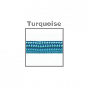 VK Υφασμάτινο Καλώδιο Στρογγυλό 3x0.75 ø0.68cm Turquoise