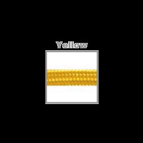 VK Υφασμάτινο Καλώδιο Στρογγυλό 3x0.75 ø0.68cm Yellow