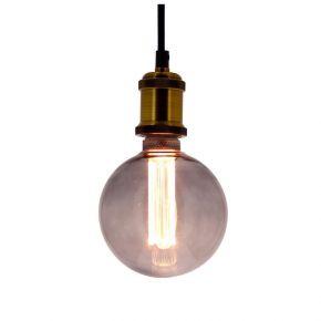 Xanlite LED 4W E27 G125 Vintage Hologramme Spirale Smoke Grey Filament