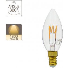Xanlite LED Λάμπα 4W E14 C37 Vintage Spiral Filament