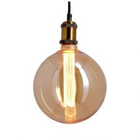 Xanlite LED Λάμπα 4W E27 G200 Amber Vintage Hologramme Spirale Filament