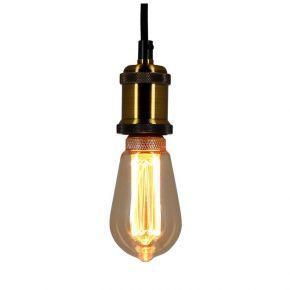 Xanlite LED Λάμπα 4W E27 ST64 Vintage Hologramme Spirale Amber Filament