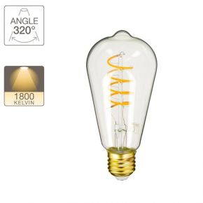 Xanlite LED Λάμπα 4W E27 ST64 Vintage Spiral Filament