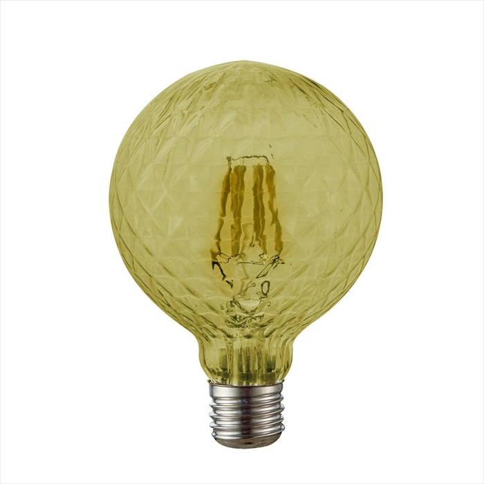 Dio LED Διακοσμητική Λάμπα 6W E27 ø125 Amber Dimmable