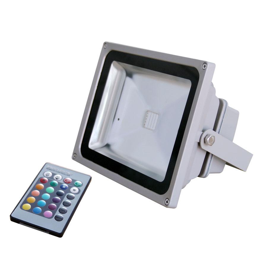 Dio LED Προβολέας 10W RGB με Τηλεχειριστήριο