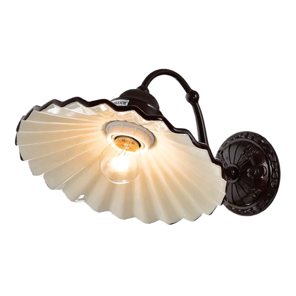 InLight Κεραμικό Φωτιστικό με Καφέ Λεπτομέρειες και Καφέ Μέταλλο Ε27