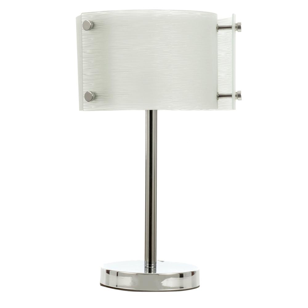 InLight Μονόφωτο Επιτραπέζιο Φωτιστικό  Με Λευκό Γυαλί Και Χρώμιο Μέταλλο 45cm 3xE27