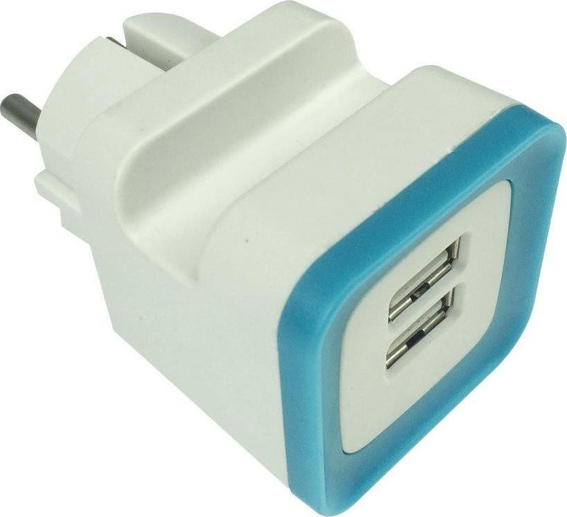 Eurolamp Αντάπτορας Από Σούκο Σε 2 USB